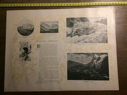DOCUMENT SUISSE WENGERNALP GRINDELWALD MURREN ET L EIGER MEIRINGEN  LAC DE BRIENZ GIESSBACH - Vieux Papiers