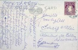 1927 , IRLANDA , TARJETA POSTAL CIRCULADA , LADIES BATHING PLACE , TRAMORE - 1922-37 Estado Libre Irlandés