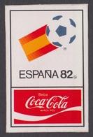 COCA COLA Sponsor - BALL Logo - Self Adhesive STICKER - SPAIN ESPANA 1982 FIFA World Cup Soccer Football - Coca-Cola