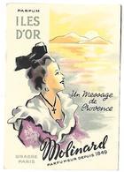 PARFUM ILES D'OR - MOLINARD Parfumeur - Grasse Paris - Werbepostkarten