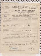 81048 Lettre Facture LEBON ELECTRICITE SAINT BRIEUC DEVIS Lot De 2 / 1931 - France