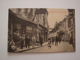 36 Chatillon.la Grande Rue.belle Animation.armurerie.moto Naphta.cycle Rochet. - France