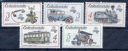 CZECHOSLOVAKIA 1987 PRAGA 88 Technical Monuments Set MNH / **.  Michel 2911-15 - Unused Stamps