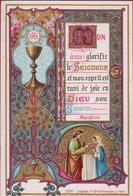 Communieprentje 1884 Heilige Communie Prima Comunione First Communion Premiere Goldprint Gouddruk Genard Bouasse - Images Religieuses