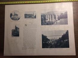 DOCUMENT SUISSE FRIBOURG PONT DE GRANDFEY VALLEE DU GOTTERON BULLE GRUYERES - Old Paper