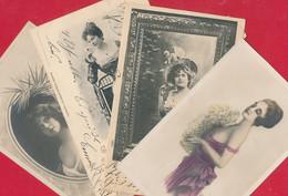 4 AK Mit 'schönen Frauen' ~ Ab 1901 - Frauen
