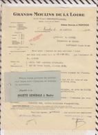 81036 Lettre Facture GRANDS MOULINS DE LA LOIRE / 1926 - France