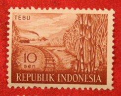 10 Sen TEBU Agricultural Products Sugar Cane (Mi 270 YT 216) 1960 Indonesie / Indonesien / Indonesia POSTFRIS / MNH ** - Indonesia