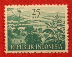 25 Sen Agricultural Products TEA PLANTATIon (Mi 273 YT 219) 1960 Indonesie / Indonesien / Indonesia POSTFRIS / MNH ** - Indonesia