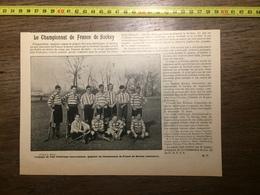 DOCUMENT 1901 CHAMPIONNAT DE FRANCE DE HOCKEY SUR GAZON - Old Paper