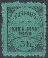 KuK K.u.k Austria Romania Hungary Transylvania Hotel Post Hohen Rinne 1909 MNH - Transylvanie