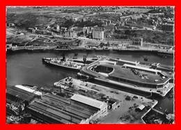 CPSM/gf (62) BOULOGNE-sur-MER.  La Gare Maritime, Vue Aérienne...I0620 - Boulogne Sur Mer