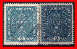 AUSTRIA (ÖSTERREICH) SELLOS SERIE AÑO 1916 COAT OF ARMS - 1918-1945 1ra República
