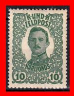 AUSTRIA (ÖSTERREICH) SELLOS SERIE AÑO 1918 EMPEROR KARL I - 1850-1918 Imperium