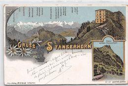 Gruss Vom Stanserhorn - Litho - 1899 - Stans - OW Obwalden