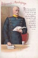 AK Bismarck Im Reichstage - Prager's Druckerei, Berlin  (39595) - Hombres Políticos Y Militares