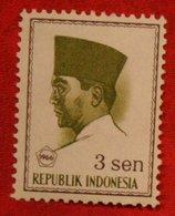 3 Sen President Sukarno (Mi 517 YT 454) 1966 Indonesie / Indonesien / Indonesia POSTFRIS / MNH ** - Indonesia