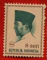 8 Sen President Sukarno (Mi 519 YT 456) 1966 Indonesie / Indonesien / Indonesia POSTFRIS / MNH ** - Indonesia