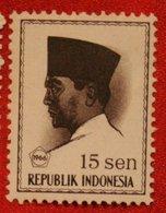15 Sen President Sukarno (Mi 521 YT 458) 1966 Indonesie / Indonesien / Indonesia POSTFRIS / MNH ** - Indonesia
