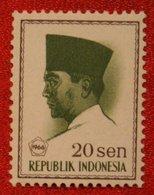 20 Sen President Sukarno (Mi 522 YT 459) 1966 Indonesie / Indonesien / Indonesia POSTFRIS / MNH ** - Indonesia