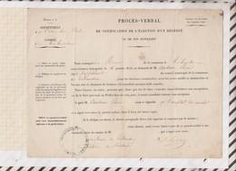 81021 Lettre Facture PROCES VERBAL TREBEURDEN AUDRAIN SENATORIALES / 1876 - Historical Documents