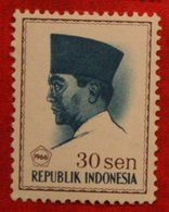 30 Sen President Sukarno (Mi 524 YT 461) 1966 Indonesie / Indonesien / Indonesia POSTFRIS / MNH ** - Indonesia