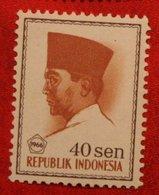40 Sen President Sukarno (Mi 525 YT 462) 1966 Indonesie / Indonesien / Indonesia POSTFRIS / MNH ** - Indonesia