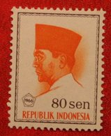 80 Sen President Sukarno (Mi 527 YT 464) 1966 Indonesie / Indonesien / Indonesia POSTFRIS / MNH ** - Indonesia