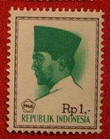 1 Rupia President Sukarno (Mi 528 YT 465) 1966 Indonesie / Indonesien / Indonesia POSTFRIS / MNH ** - Indonesia