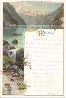 RARO MENU LIEBIG 39 Tedesco, Deutsch. Konigs-See, Il Lago Dei Re. 1894 - Liebig