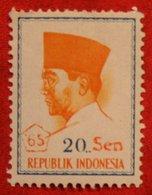 20 Sen President Sukarno (Mi 507 YT -) 1966 Indonesie / Indonesien / Indonesia POSTFRIS / MNH ** - Indonesia