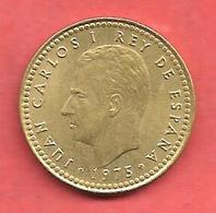 1 Peseta , ESPAGNE , Alu-Bronze , 1975 ( 79 ) , N° KM # 806 , N° Y127 - [ 5] 1949-… : Royaume