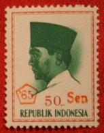 50 Sen President Sukarno (Mi 510 YT -) 1966 Indonesie / Indonesien / Indonesia POSTFRIS / MNH ** - Indonesia