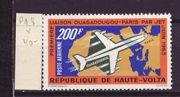 Haute Volta - Obervolta - Upper Volta Poste Aérienne 1963 Y&T N°PA8 - Michel N°136 * - 50fs200f Paris Ouagadougou - Haute-Volta (1958-1984)