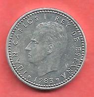 1 Peseta , ESPAGNE , Aluminium , 1983 , N° KM # 821 , N° Y140.1 - [ 5] 1949-… : Royaume