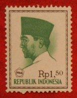 1.50 Rupia President Sukarno (Mi 530 YT 467) 1966 Indonesie / Indonesien / Indonesia POSTFRIS / MNH ** - Indonesia