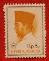 5 Rupia President Sukarno (Mi 533 YT 570 ) 1966 Indonesie / Indonesien / Indonesia POSTFRIS / MNH ** - Indonesia