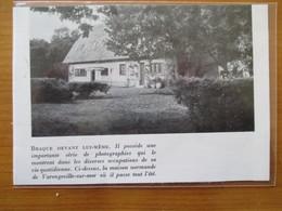 (1954) VARENGEVILLE SUR MER - La Maison Normande De Braque   - Coupure De Presse Originale (Encart Photo) - Historical Documents