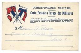 Correspondance Militaire Carte Postale à L'usage Des Miltaires . .G - Guerre 1914-18