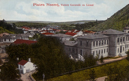 PIATRA NEAMT : VEDERE GENERALA Cu LICEUL PETRU RARES ~ 1905 - '910 (aa564) - Romania