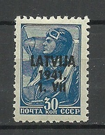 Lettland Latvia 1941 German Occupation, 30 K, * - Occupation 1938-45