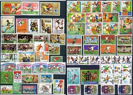 Football Has Many Interesting Postage Stamps - Timbres