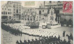 Mechelen - Malines - La Procession De La Fête-Dieu à Malines - Bénédiction Du T.S. Sacrement, Grand'Place - 1908 - Mechelen