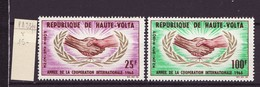 Haute Volta - Obervolta - Upper Volta Poste Aérienne 1965 Y&T N°PA23 à 24 - Michel N°165 à 166  * - Coopération - Haute-Volta (1958-1984)