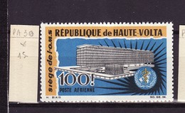 Haute Volta - Obervolta - Upper Volta Poste Aérienne 1966 Y&T N°PA30 - Michel N°188  * - 100f OMS - Haute-Volta (1958-1984)
