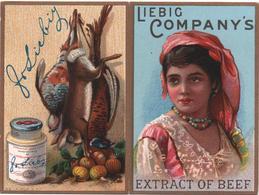 Calendarietto, Chromo Calendrier De Poche, Victorian Trade Card - Calendar 1889. LIEBIG Company's Extract Of Beef. - Liebig