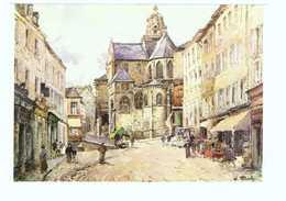 95 Pontoise Tableau Peintre William Thornley Le Chevet De L' Eglise Saint Maclou Vers 1900 CPM - Pontoise