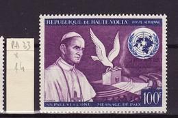 Haute Volta - Obervolta - Upper Volta Poste Aérienne 1966 Y&T N°PA33 - Michel N°207  * - 100f Paul VI - Haute-Volta (1958-1984)