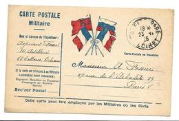 Correspondance Militaire Carte En Franchise  2 Scans   . .G - Guerre 1914-18