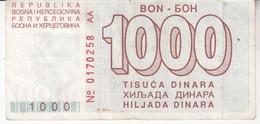 3786    BON    1000 DINARA     RR - Bosnie-Herzegovine